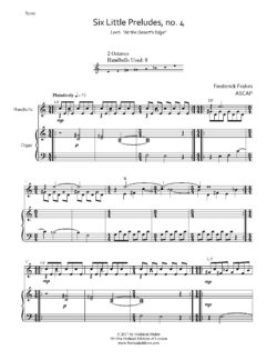 Frahm Six Little Preludes Lent first page