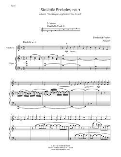 Frahm Six Little Preludes Advent first page