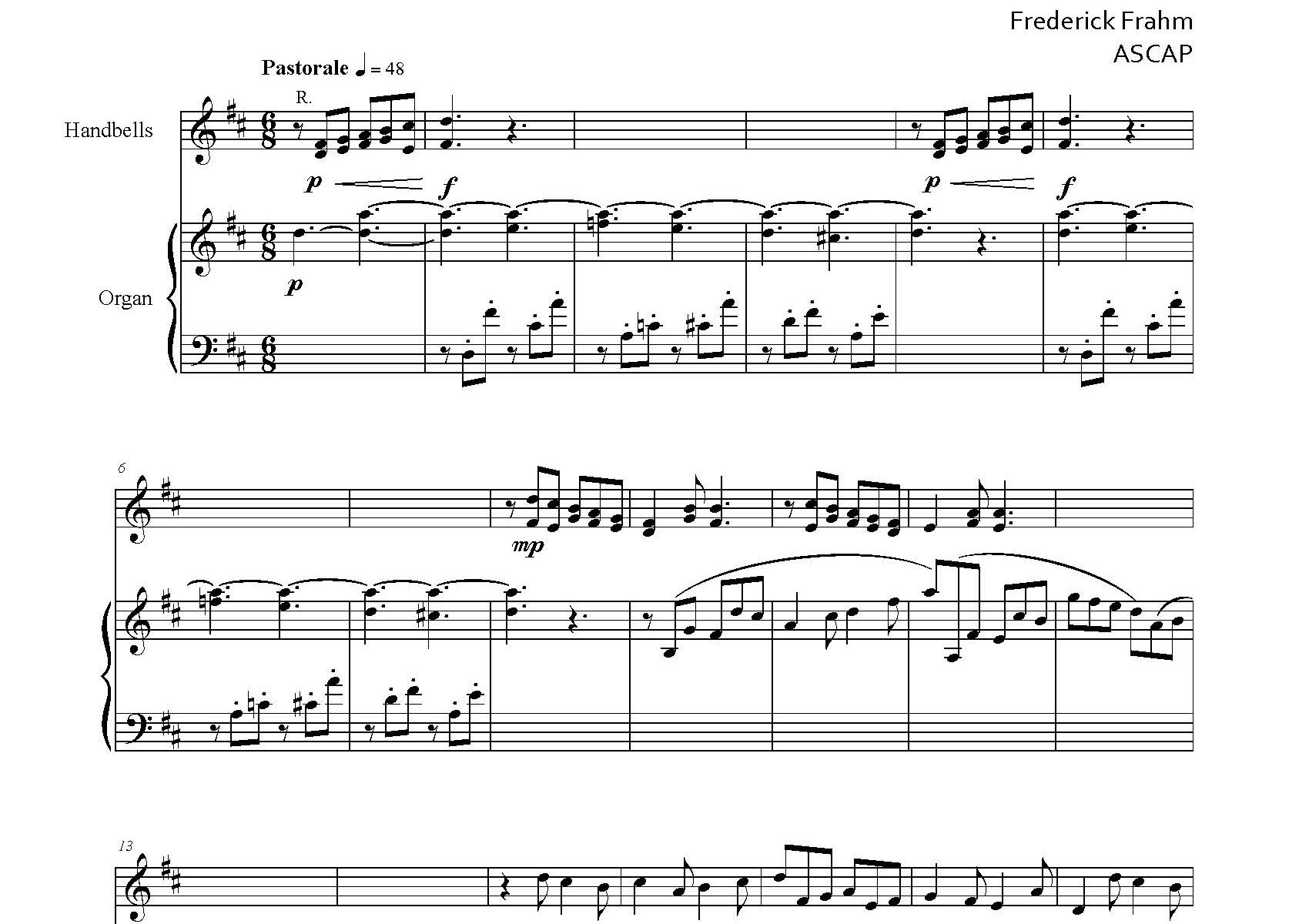 Frahm Six Little Preludes Christmas first page
