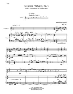 Frahm Six Little Preludes Easter first page
