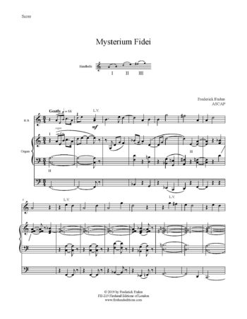 Frahm Mysterium Fidei first page
