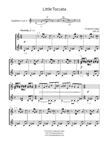 Frahm Little Toccata first page