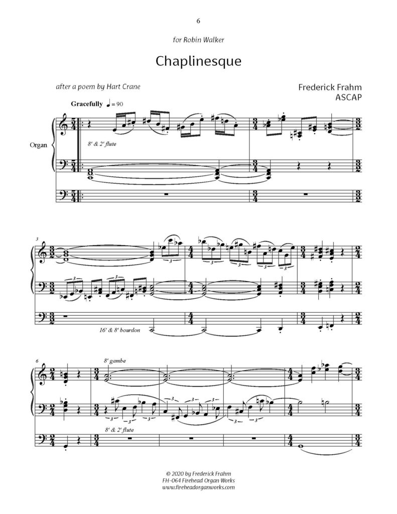 Frahm Chaplinesque first page